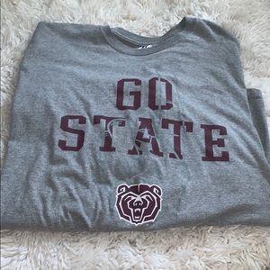 Long sleeve men's Missouri state bears shirt
